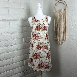 American Eagle floral tassel dress